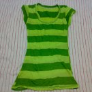 GREEN STRIPED LONG TEE