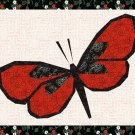 Beautiful Butterfly Foundation Paper Piecing Pieced Quilt Block Pattern Download PDF Butterflies