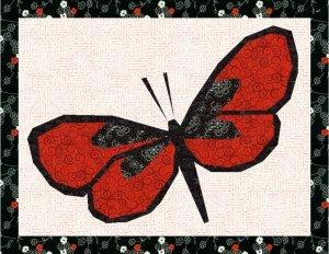 Beautiful Butterfly Foundation Paper Piecing Pieced Quilt Block Pattern Download PDF Butterflies