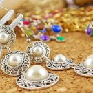 Fashion 3 Pearl Bead Tassel Earring Ear Stud Pin Dangling Jewellery Women Gift