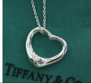 Heart Necklace Pendant Necklace Silve