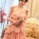 Elegant Lady Woman Chiffon Sexy One Shoulder Slim Mini Dress