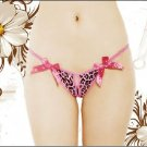 Sexy Women Lingerie Thong T-back Panties Free Sz Rose