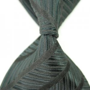 Black Stripe Silk Classic Woven Man Tie Necktie
