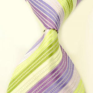 Colorful Stripe Silk Classic Woven Man Tie Necktie