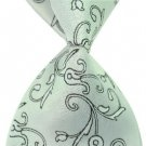 Light Green Arabesquitic Silk Classic Woven Man Tie Necktie