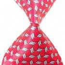Pink White Lattice Stripe Silk Classic Woven Man Tie Necktie