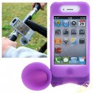 Novel Silicone Soft Protective Case Amplifier Horn with Bicycle Bracket for Apple iPhone 4G
