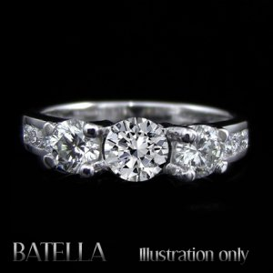 EGL Certified 1.83 Carats H/SI1 Round Cut Diamond Engagement Ring 18k White Gold