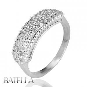 .57 Carat G-H/VS1 EX Pave Round Diamonds Wedding Band Ring 18k White Gold Womens