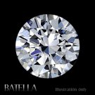 EGL Certified 0.78 Carat J VS2 VG Round Cut Natural White Loose Diamond E.G.L