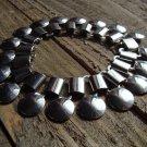 Retro Vintage Silver Tone Dangle Disc Linked Bracelet Gyspy Boho Fashion Jewelry
