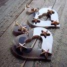 Large Brown Camo Camouflage Heart Star Long Dangle Earrings Cowgirl Fashion Jewelry