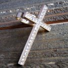 Large Gold Tone Cross Rhinestones Statement Ring Fashion Jewelry Adjustable