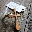 Gold Tone Stretch Cross Statement Ring Fashion Jewelry Lead Free USA Design