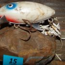 Vintage Old C.A. Clark Water Scout White Fishing Lure Bait Tackle Wood 2 3/8""