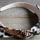 Brown Black White Rockabilly Animal Print Pattern Fabric Bow Headband Fashion Hair Accessory