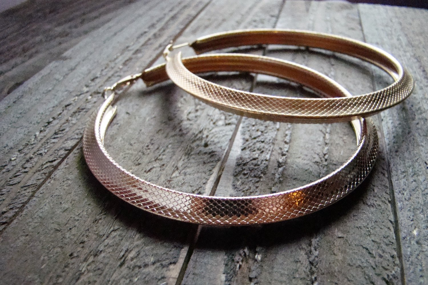"""4"""" Extra Large Gold Tone Hoop Earrings Lever Back Fashion Jewelry Pierced"""