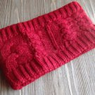 Red Knit Headband Wrap Ear Warmer Wide Thick Fashion Hair Accessory