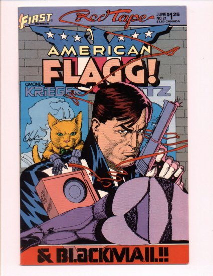 American Flagg #21, VF Condition