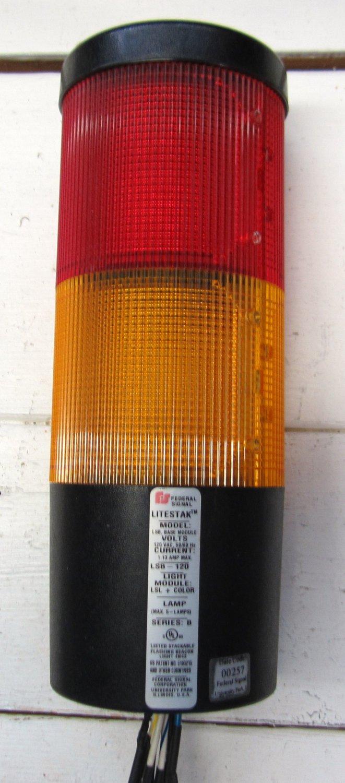 federal signal litestak lsb 120 steady stack light amber. Black Bedroom Furniture Sets. Home Design Ideas