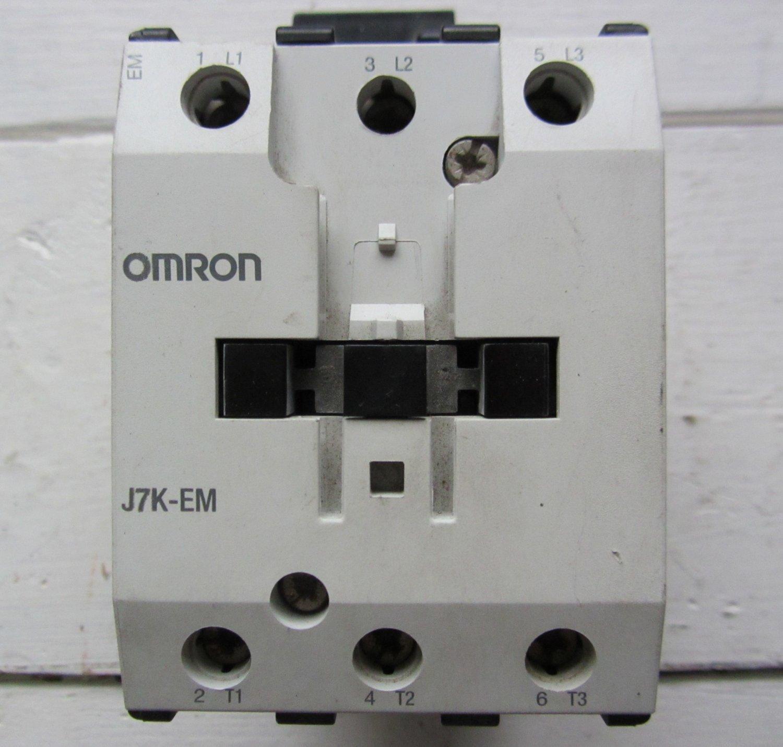 Omron J7K-EM 110 VAC Motor Starter Contactor 90 Amp 40 HP J7KEM 600 VAC