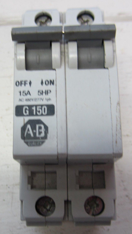 Allen bradley g150 1492 cb2 ser b 2 pole 15 amp circuit for Circuit breaker for 7 5 hp motor