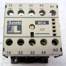 Lovato MCA 22E 120 VAC Coil Relay 2 NO 2 NC 600 VAC 6 Amp 690 VAC 10 Amp