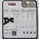 Allen Bradley 700-HA33Z24 24 VDC Pilot Relay 10 Amp 240 VAC DPDT 700HA33Z24