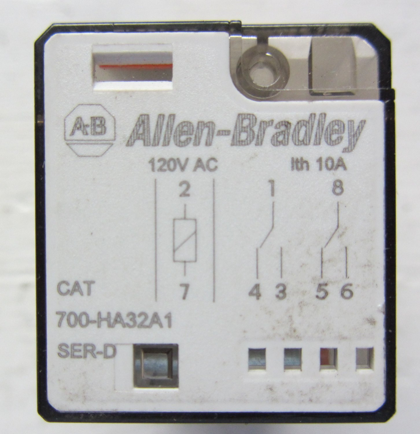 allen bradley 700 ha32a1 relay 10 amp 120 vac 50 60hz dpdt ser a type h 700ha32. Black Bedroom Furniture Sets. Home Design Ideas