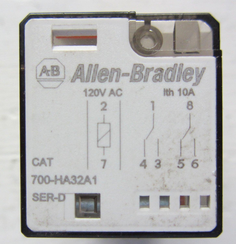 Allen Bradley 700-HA32A1 Relay 10 AMP 120 VAC 50/60HZ DPDT SER. A Type H 700HA32