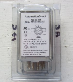 Automation Direct 750-3C-24A 24 VAC Coil Relay 7503C24A NIB 11 Pin