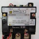 Square D 8536SBO2S Motor Starter Ser A 120 V Coil Size 0 5 HP 460 V 8536 SB0 S