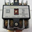 Square D 8501X020 Type X Relay Ser. A Industrial Control Relay 8501 8 N.C. / N.F - 12 TOT.