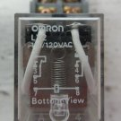 Omron LY2 120 VAC Relay 2 Pole 1/2 Horsepower with Base 10 Amp