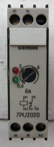 Siemens 7PU2020-1AJ20 Timing Relay .6 - 6 Seconds 110 VAC Coil 7PU20201AJ20