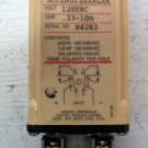 Agastat SCCLA012XXALXA Timing Relay 120 VAC .33 - 10 Minute Ser. No. H35 w/ Base