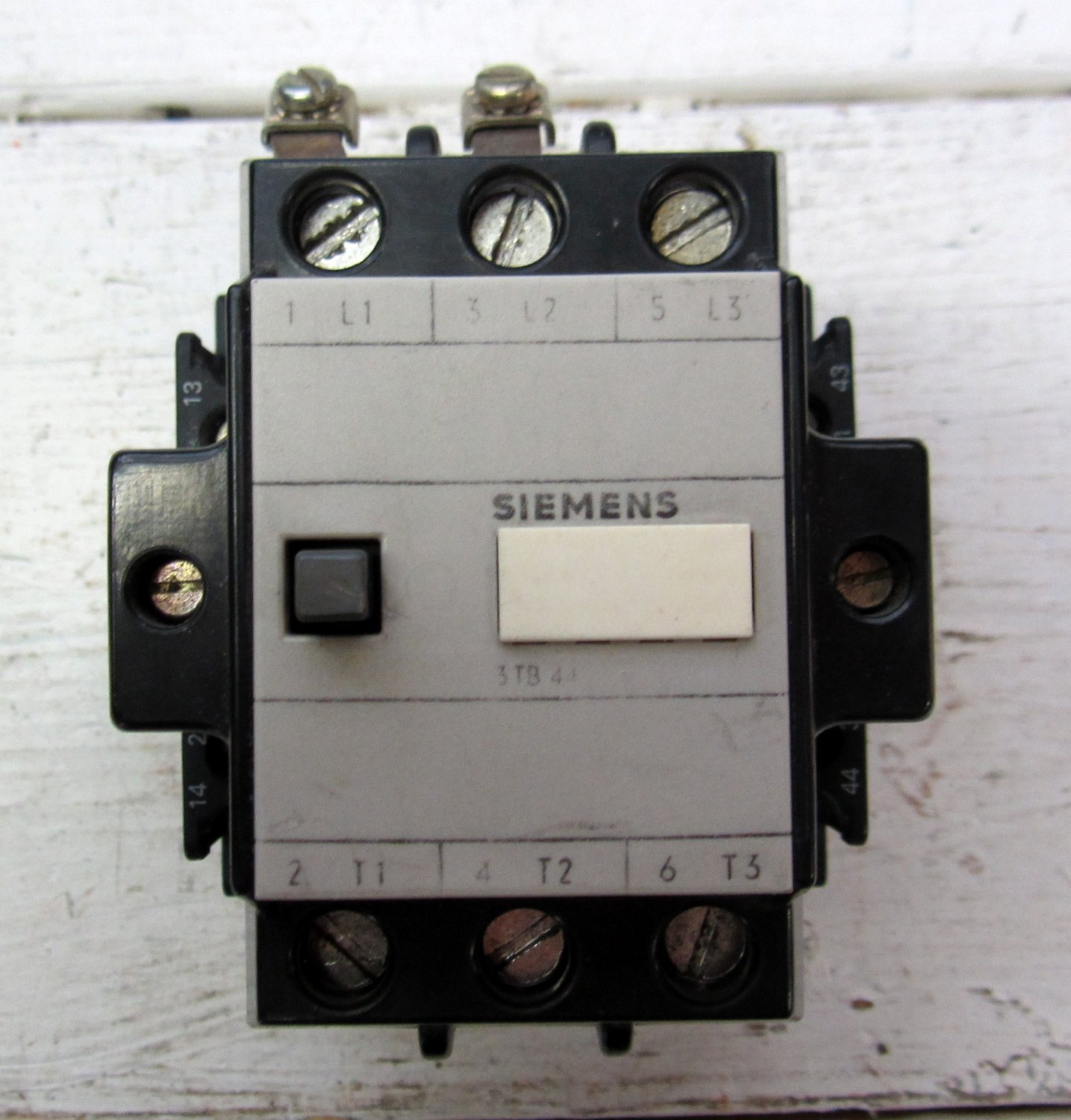 Siemens tb a air break motor starter contactor v