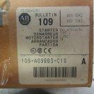 Allen Bradley 109-A09BB3-C10 Motor Starter Start Stop Enclosure 480 V 3 Pole 9 Amp 109-A09BB3