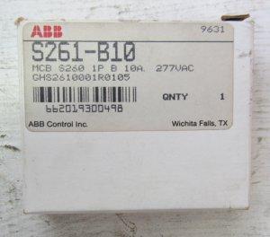 ABB S261-B10 10 Amp 1 Pole 480 VAC B Curve 277 V Circuit Breaker S261B10 New