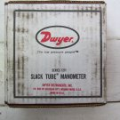 Dwyer Slack Tube Manometer Series 1211 Max Pressure 50 PSI 130 Degrees F New