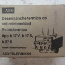 AEG Modicon B17S b17 F 2 A Overload Relay Thermal .28 - .4 Amp B17V/S B27S/T