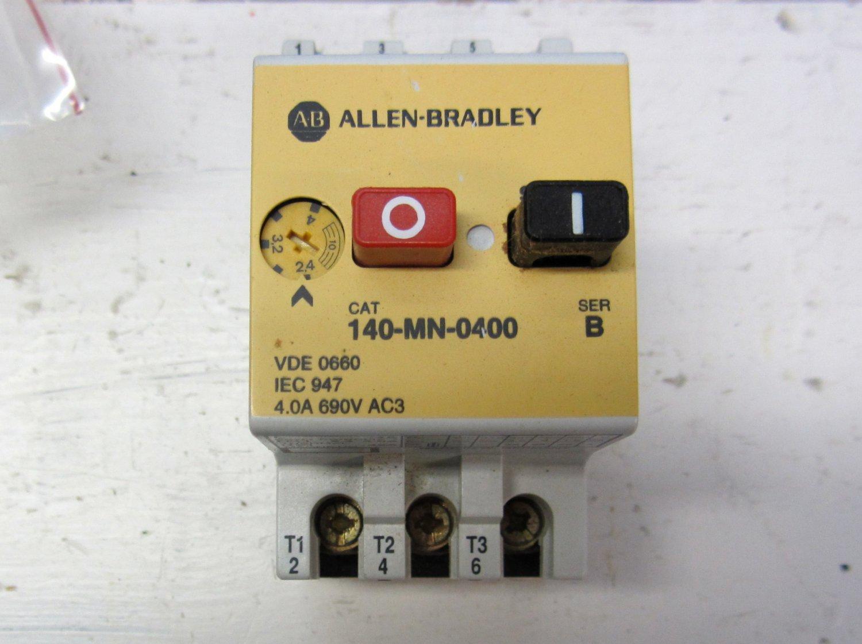 Allen bradley 140 mn 0400 manual motor starter 2 4 4 amp for Allen bradley motor overload