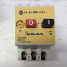 Allen Bradley 140-MN-0400 Manual Motor Starter 2.4 - 4 amp Overload 3 Pole 690 V 140MN0400