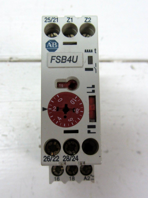 Allen Bradley 700-FSB4UU23 Timing Relay .05 sec. - 60 h. 24 VDC  FSB4U
