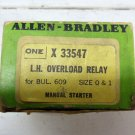 Allen Bradley X-33547 Left Hand Overload Relay for Bul. 609 Size 0 & 1 X33547