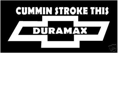 Chevy Duramax Diesel vinyl decal sticker
