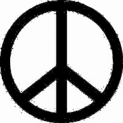 Peace Symbol vinyl decal customize