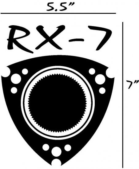 RX-7 rx7 Rotary Vinyl Decal Must have for RX7 Lovers