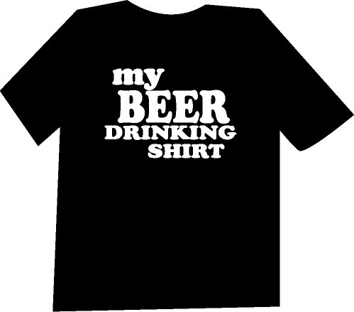 My Beer Drinking Shirt Funny  T-Shirt NEW